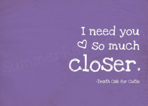 Death #Cab #Quote