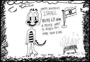 comic strip cartoon comic strip of israel on its 63rd independence day ...