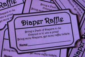 INSTANT DOWNLOAD- Purple Printable Baby Shower Diaper Raffle Ticket