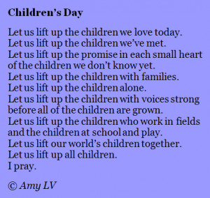 Celebrating Children's Day with Poem #235