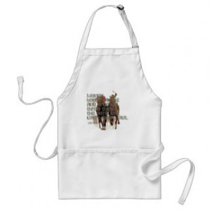 Will Rogers Horse Racing Quote Apron