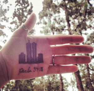 September 11 bible verse on hand