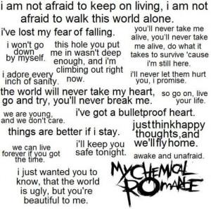 maybe the best lyrics by my chemical romance