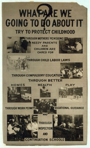 File:Activism poster to prevent Child Labor, United States early 20th ...