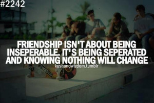life quotes friendship isnt about being inseparable Life Quotes 88 ...