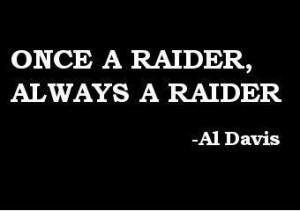 once a raider always a raider by al davis