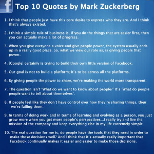 Top 10 Wonderful & Inspiring Quotes by Mark Zukerberg Fans