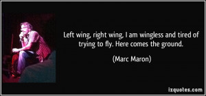 Left wing, right wing, I am wingless and tired of trying to fly. Here ...