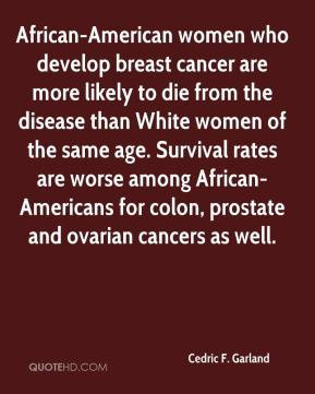 Cedric F. Garland - African-American women who develop breast cancer ...