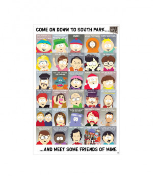 Stationery Posters South Park (Quotes 2 - New Characters) (24 x 36 ...