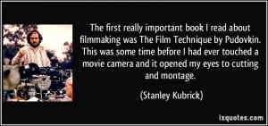 The first really important book I read about filmmaking was The Film ...