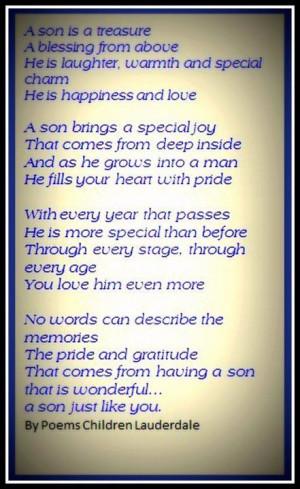 Proud of My Son Poem | via linda brady
