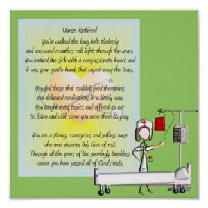 Funny Nurse Retirement Poems