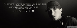 Inspiration From Eminem on FB Covers with Quotes