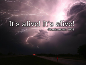 It's alive! It's alive! Frankenstein, 1931