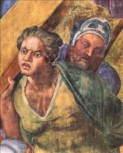 michelangelo buonarroti martyrdom of st peter by michelangelo