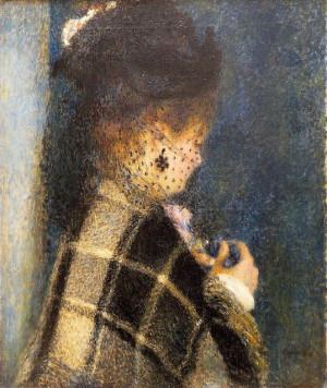Pierre Auguste Renoir - Jeune femme à la voilette, vers 1875
