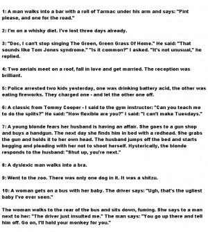 Funniest funny jokes top 10