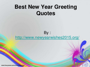 Best new year greeting quotes