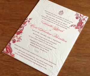 ... about our Indian floral paisley wedding invitation design, Sindhu