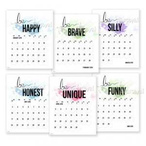calendar planer be you inspirational quotes 2015 printable calendar ...