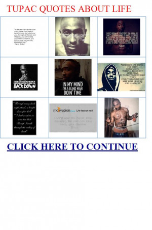 tupac quotes about life – Tupac Shakur: