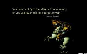 Homepage » Quotes » Napoleon Bonaparte - Art of War Quotes Wallpaper