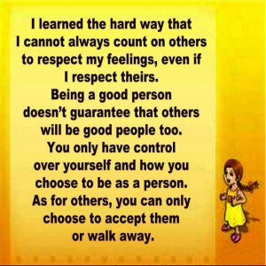 Respect Quotes   Good person   Feeling Quotes