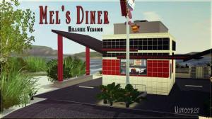 Mel's Diner flat version by Mspoodle - Sims 3 Downloads CC Caboodle ...