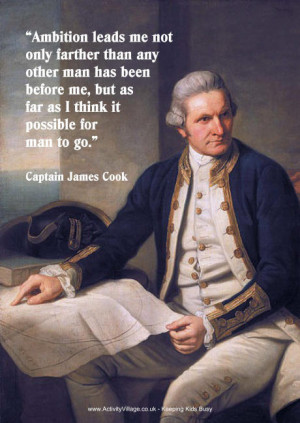 Captain Cook quote poster