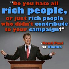 Rand Paul to Obama More