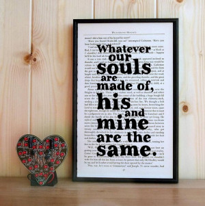 Wuthering Heights Love Quote Print