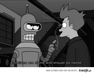 bender, emotion, futurama, quote