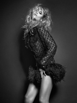 Natasha Poly in Smoking Black & White for March Issue Vogue Paris