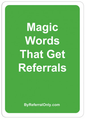 Real Estate Referral Thank You Wording