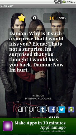 View bigger - Vampire Diaries Quotes for Android screenshot