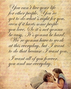 Love Quotes For Him Movies : ... Him Love Quotes Written In Notebook Love Quotes From The Movie Hope