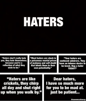 ... that person mean quotes to haters mean quotes to haters and haters