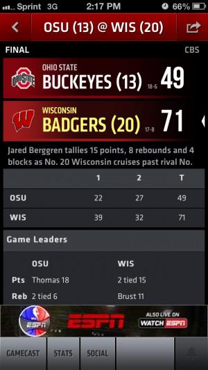 ... against buckeyes, @wisconsin.. Wisconsin badgers mens basketball