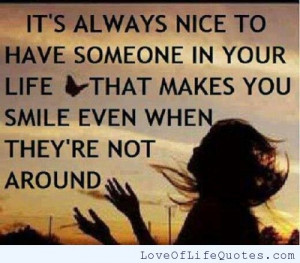 ... you happy makes you smile and makes you laugh if you find someone who