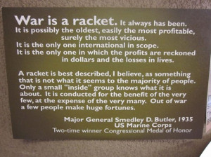 War Is A Racket Quote