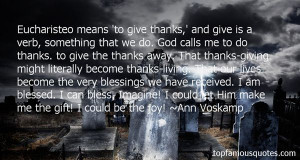 Blessings Received Quotes