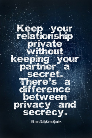 Keep your relationship private without keeping your partner a secret ...
