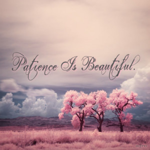 ... for this image include: patience, beautiful, life, quote and quotes