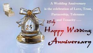 ... , Partnership, Tolerance And Tenacity 25th Happy Wedding Anniversary