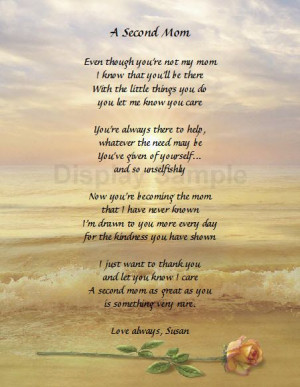 Personalized Poem For Stepmom Gift Idea Stepmother Gift