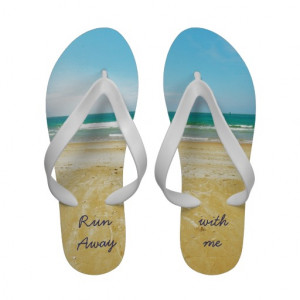 Flirty Flip Flops with Beach Quote