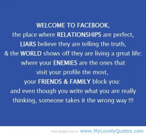 The place where relationships are perfect – Facebook cute quotes