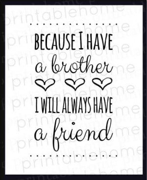 Brothers+Quote+INSTANT+download+Nursery+brother+by+PrintableHome,+$5 ...