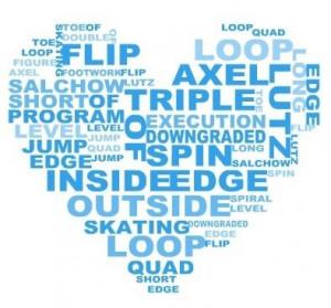 Funny ice skating figure